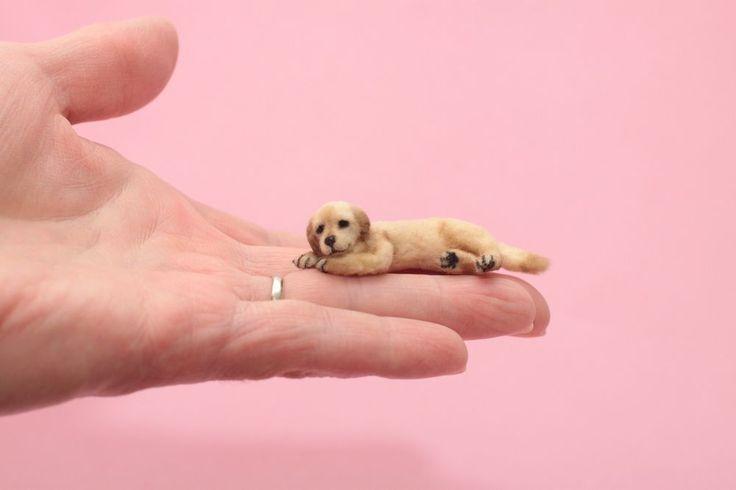OOAK realistic dollhouse miniature labrador puppy dog 1:12 scale  | eBay