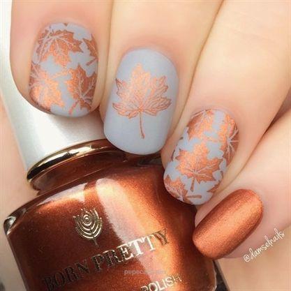 60+ Must Try Nail Designs in diesem Herbst; Herbstblumen Nail Design; Herbst Nägel fallen Nai…
