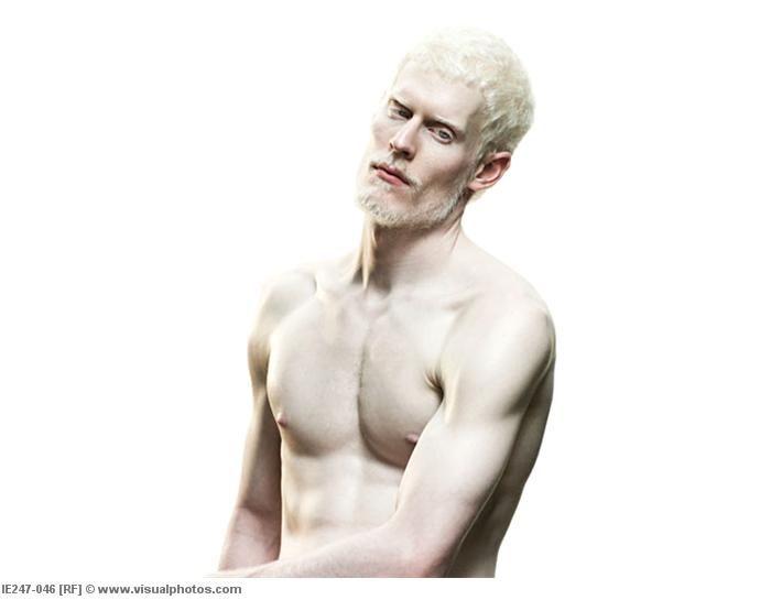 Naked albinos men