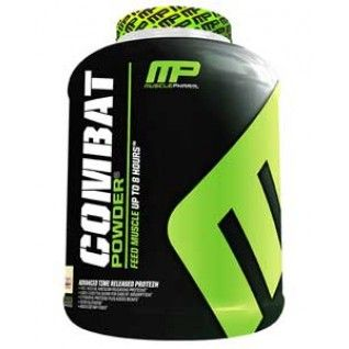 Muscle Pharm Combat. Protein powder that I use and really helps me when I am on the go and don't have time for a meal. However, you should always make time to eat and cannot depend on protein powder every day.