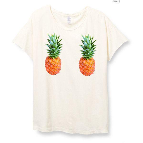 Womens Boho Pineapple Boob Shirt Trendy Tumblr Shirt Tee Top Bohemian... (240 NOK) ❤ liked on Polyvore featuring tops, t-shirts, white, women's clothing, oversized t shirt, vintage tee-shirt, tee-shirt, pineapple t shirt and oversized white shirt