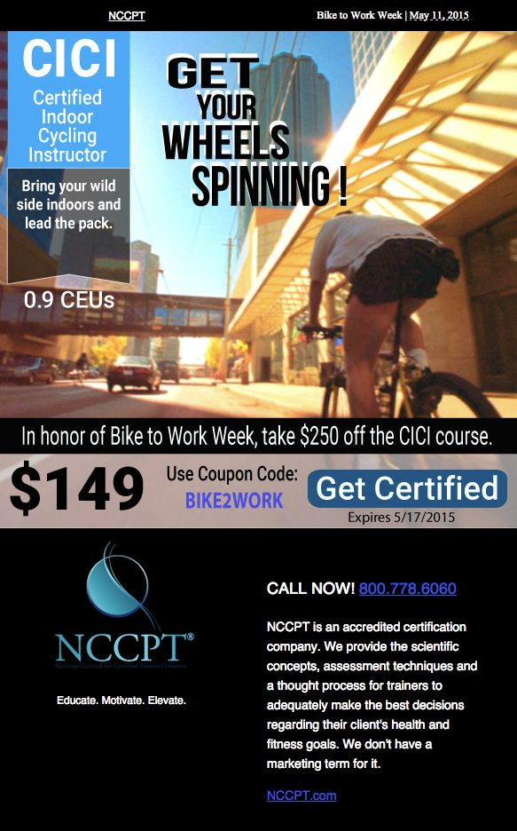 210 best nccpt products and more images on pinterest exercise become a certified indoor cycling instructor 149 use coupon code bike2work expires 5 fandeluxe Image collections