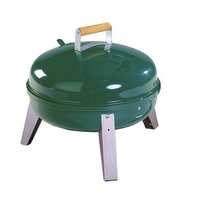 Meco Portable Charcoal Grill Finish: Green