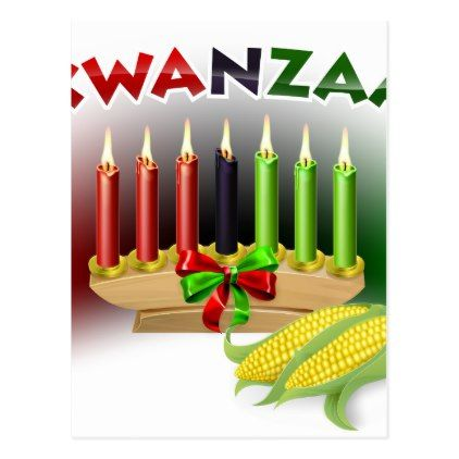 Kwanzaa Sign Postcard - postcard post card postcards unique diy cyo customize personalize