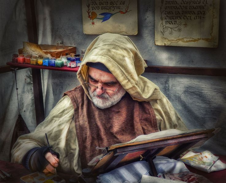 Medieval Scribe by Lleonart on 500px