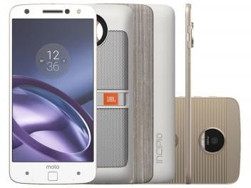 Smartphone Motorola Moto Z Power & Sound Edition - 64GB Branco e Dourado…
