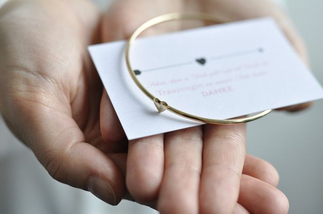 Danksagungskarte und Armreif als Geschenk für die Trauzeugin und Brautjungfer / bracelet and greetingcard as witness and bridesmaid gift made by Stella København via DaWanda.com