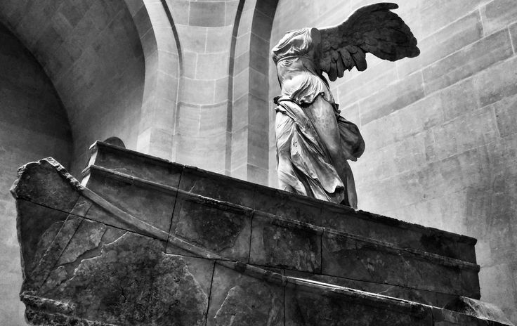 Winged Victory of Samothrace @ the Louvre. It was so amazing to stand before it. © ccingreece