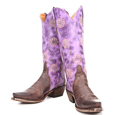 Purple Lucchese cowboy boots - PFI BootDaddy Exclusive : )
