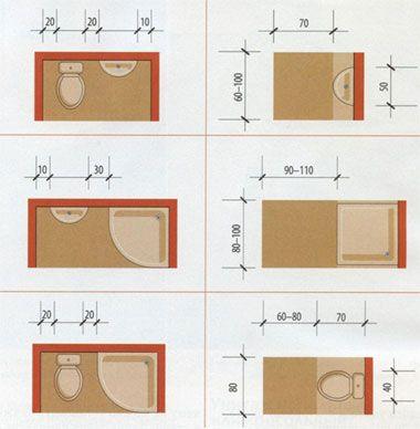 Санитарное оборудование, а также настенные смесители должны быть установлены на соответствующей высоте: умывальник - 85 см, настенный смеситель для умывальника - 25-35 см над ним, держатель для душевой лейки - 180 см над полом.     Нужно также уделить внимание таким архитектурным элементам, как окна и двери.