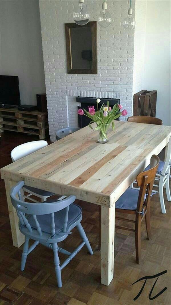 Salita casa nueva pinterest mesas palets y cocina - Mesa de cocina pequena ...
