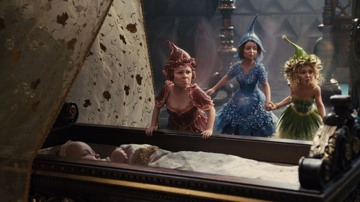 Imelda Staunton, Lesley Manville, and Juno Temple in Maleficent (2014)