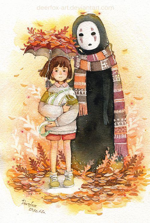 Spitited Away Autumn by deerfox-art