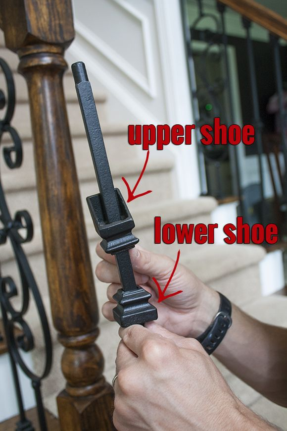 How to install iron balusters - * View Along the Way *