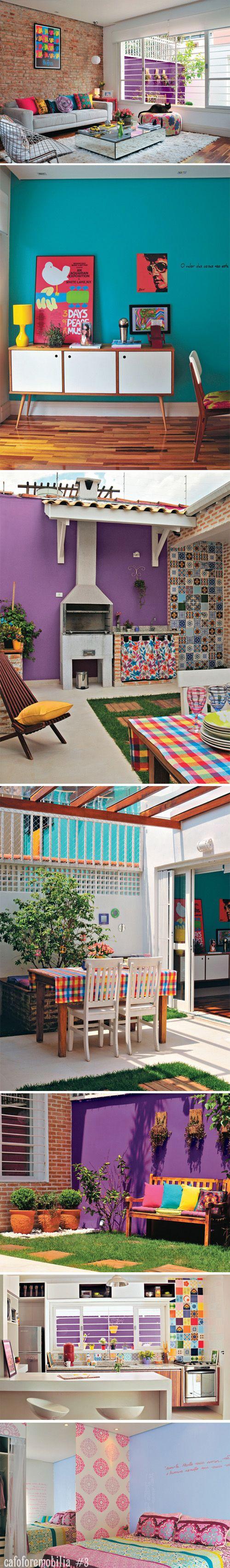 Amo cores, muitas cores! Meu sonho para minha própria casa.