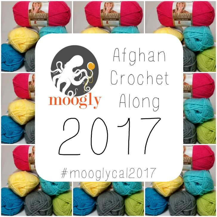 Moogly Crochet Along 2017! Get all 24 patterns FREE over the course of the year, and have a gorgeous handmade blanket by the holidays!