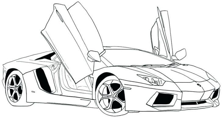 Lamborghini Coloring Page O To