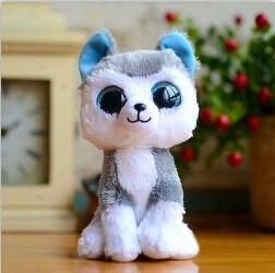 1pc18cm Hot Sale Ty Beanie Boos Big Eyes Husky Dog Plush Toy Doll Stuffed Animal Cute Plush Toy Kids Toy Birthday Gift