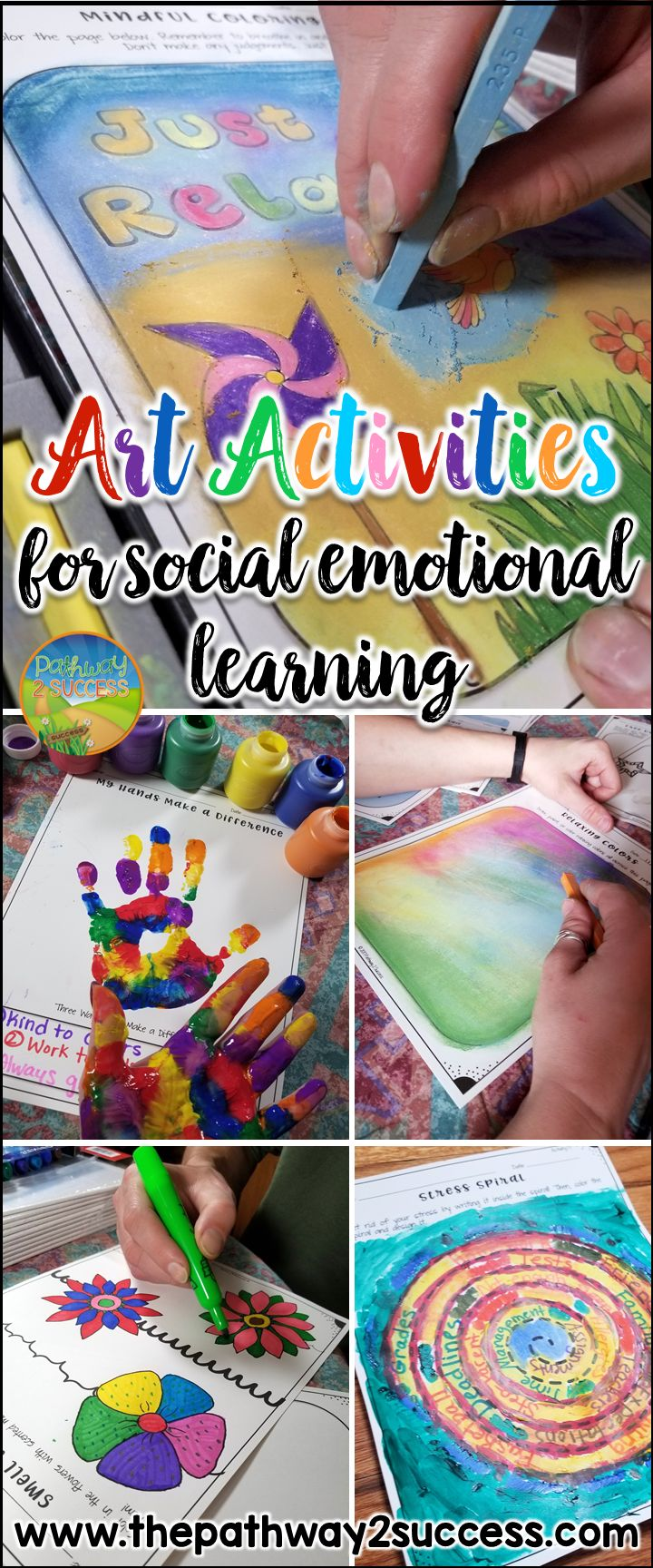 Art activities for social emotional learning. Use the power of art to boost confidence, improve social skills, develop self-awareness, increase problem-solving skills, help to manage emotions, and more.
