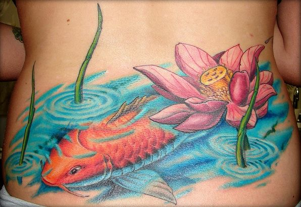 109 best images about tattoos on pinterest pisces for Koi pond tattoo