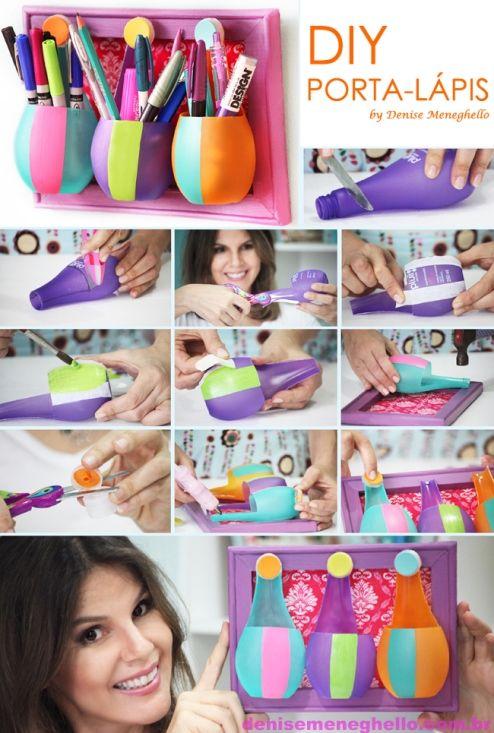 DIY decoração: porta-lápis, porta-pincel, porta qualquer coisa!