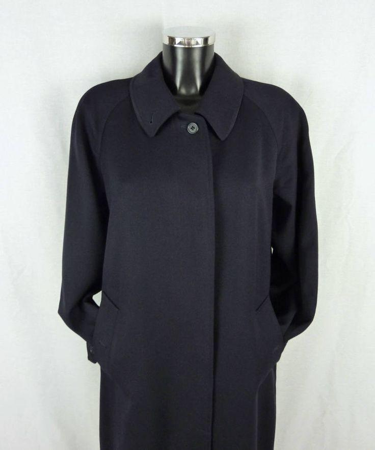 Manteau BURBERRY, en laine, bleu marine, unisexe, Taille 40/42 (FR) - Size M/L de la boutique TheNuLIFEshop sur Etsy