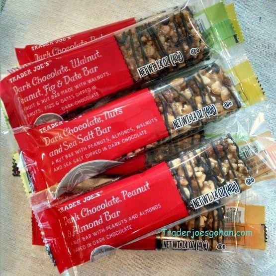 Trader Joe's Simply Nutty Dark Chocolate Nut Bars 1.4oz/40g $1.00 トレーダージョーズ ダークチョコレートナッツバー