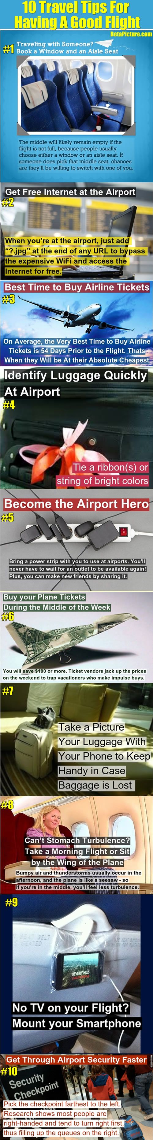 10 Travel Tips That You Must Know To Have A Good Flight.