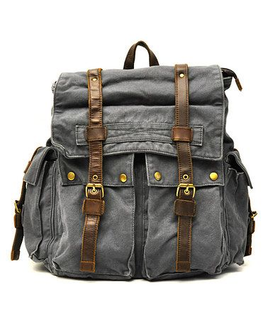 Love this Charcoal Vintage Buckle Backpack by J. Campbell on #zulily! #zulilyfinds