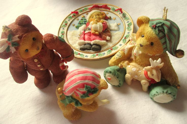 Patricia Hillman Teddy Bears, Christmas Bears, Bear Ornaments,Hillman Ornaments,Cherished Teddies,Bear Christmas Ornaments, Hillman Teddies by MyGrandmothersHouse on Etsy