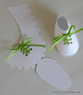 paper baby shoes- I make these all the time for my kids at school and attach a Bible verse to it.