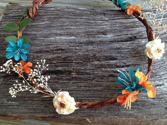 Bohemian, Flower Hair Crown, Boho Style, Festival, Hair Crown, Boho Hair Wreath, Hippie headband