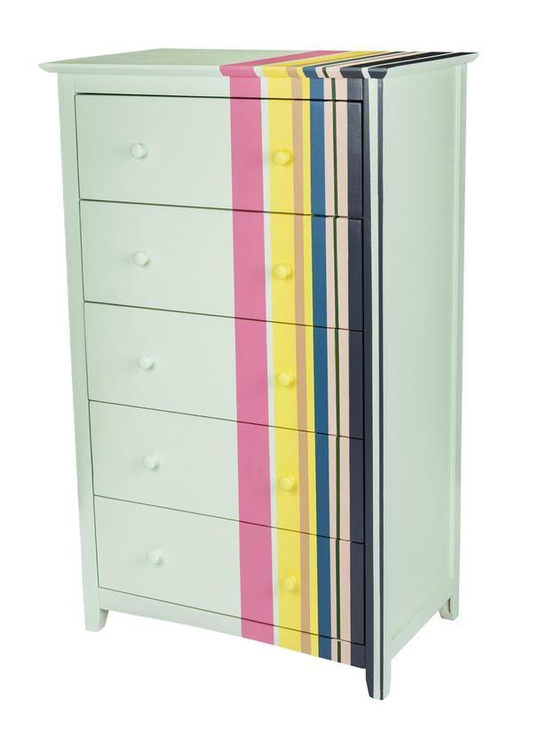 Stripe a dresser this weekend, plus 2 more dresser DIY ideas #DIY #hgtvmagazine http://www.hgtv.com/decorating-basics/3-fun-dresser-makeovers/pictures/page-4.html?soc=pinterest