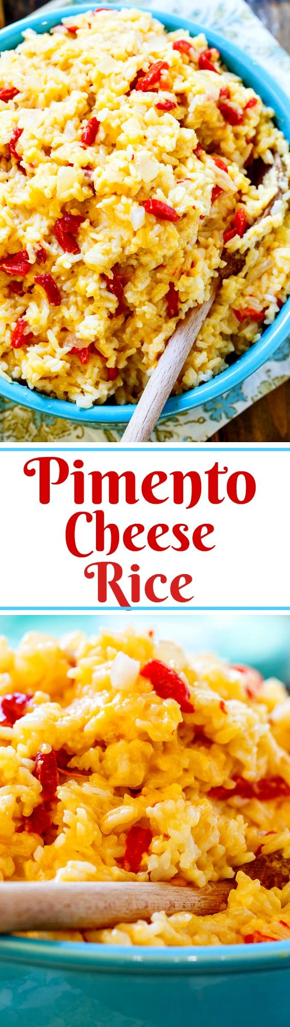 Pimento Cheese Rice combines the flavors of pimento cheese with white rice to create a cheesy, flavorful side dish.