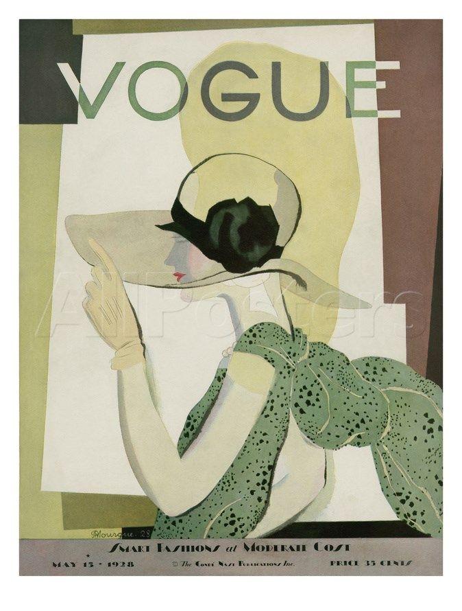 Vogue Cover - May 1928 Regular Giclee Print af Georges Lepape på AllPosters.dk