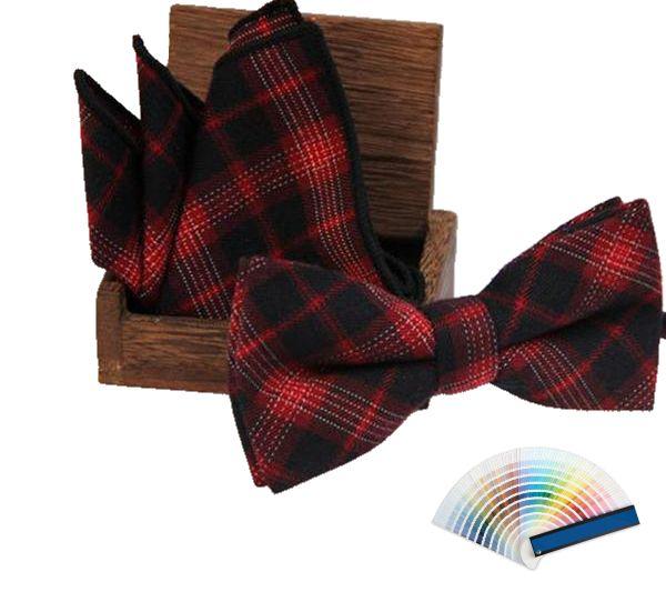 Dark Tartan Bow Ties & Pocket Squares