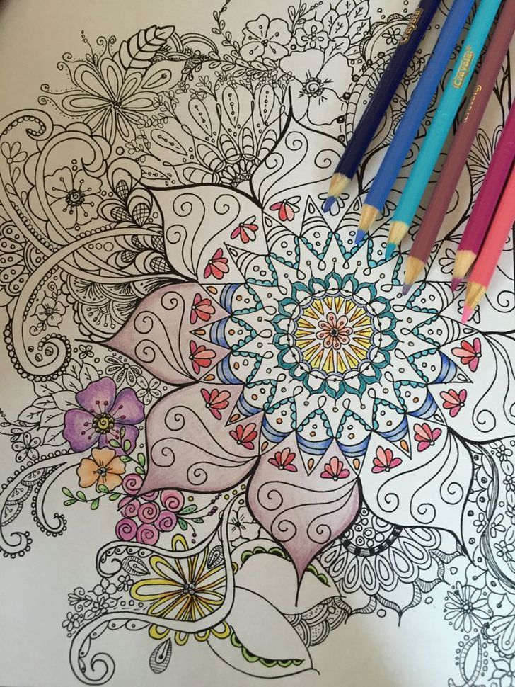 Instant down load,Adult and Children Coloring page, Digital, Zentangle inspired, Hand Drawn, Floral Doodle Art by psTangledArt on Etsy