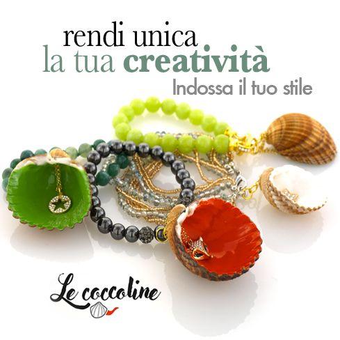 Rendi unica la tua creatività...indossa il tuo stile  con i gioielli Le Coccoline! Creazioni artigianali personalizzabili nei materiali e nei colori! I profumi e i colori dell'Isola del Giglio in ogni tuo accessorio!