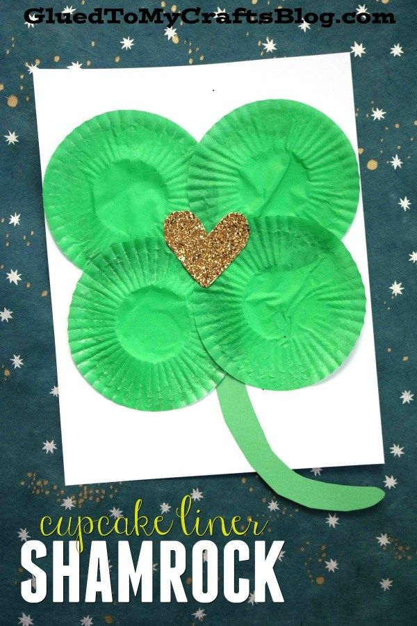 DIY Craft: Cupcake Liner Shamrock {Kid Craft} 1