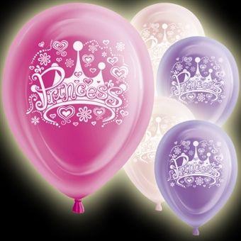 LED-Ballonger, Princess 5-pack