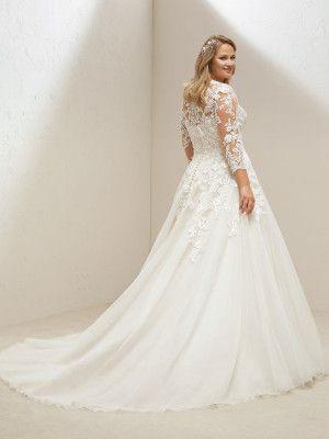 vestidos de novia de tallas grandes de pronovias | trendy bodas