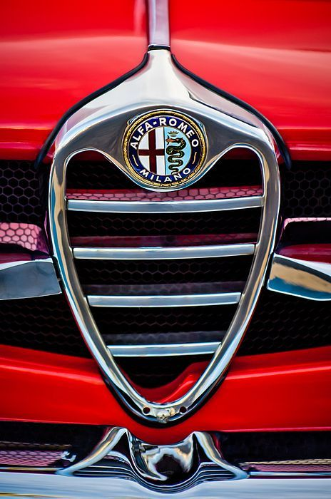 Alfa Romeo Images by Jill Reger - Images of Alfa Romeo - 1962 Alfa Romeo Giulietta Coupe Sprint Speciale Grille Emblem #alfaromeogiulietta