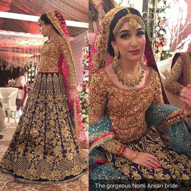 The stunning Sana Ansari in an Ethereal Look by #NomiAnsari at her Valima…