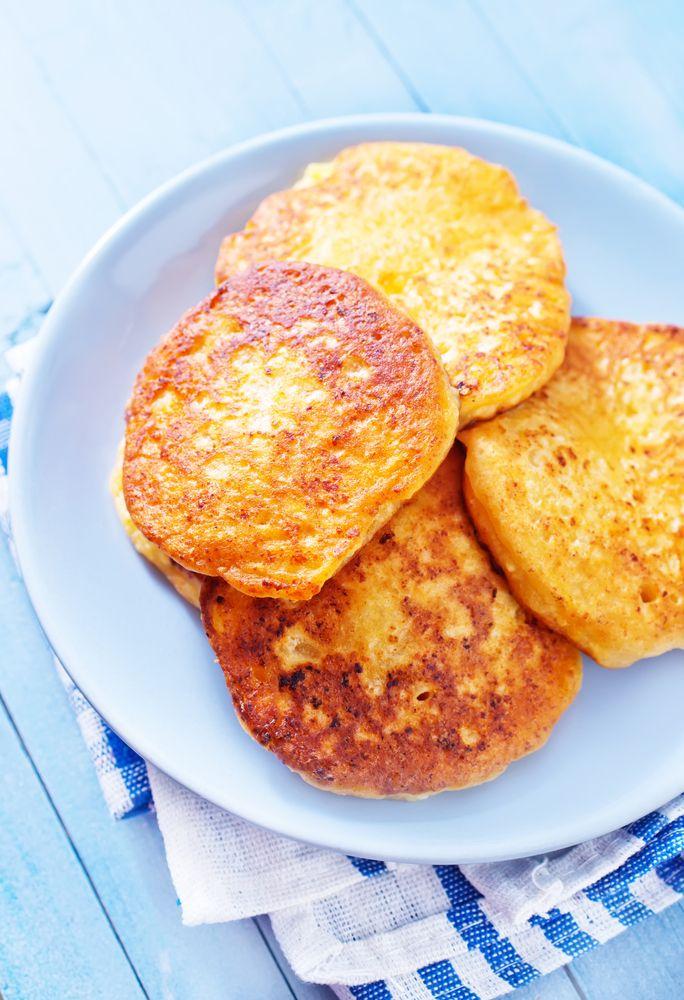 Hotcakes de Yogurt . Pancakes de yogur y harina integral .