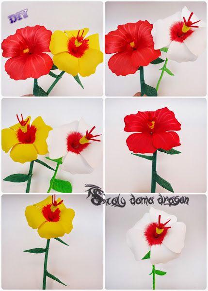 Hibiscus de goma eva