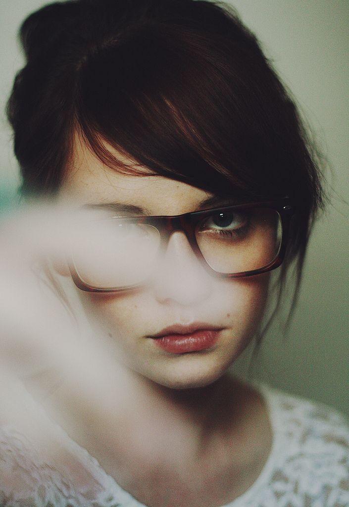 glasses + bangs