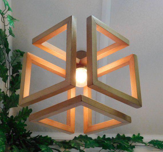 Wood Pendant Light / Wood Lamp / Celing light / Modern Chandelier / Wood Light Fixture / Hanging Lamp / Wood Chandelier
