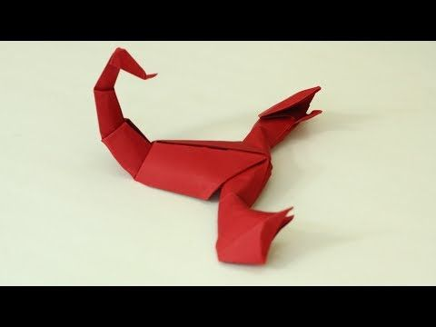How to make an origami Scorpion (Jozsef Zsebe) - YouTube