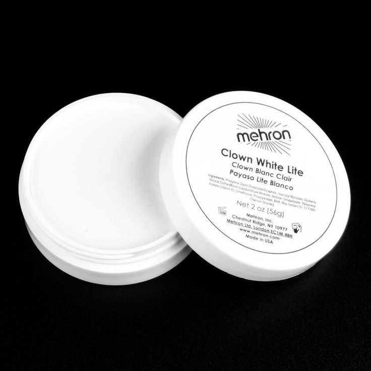 Clown White Lite 2oz theatrical circus face paint stage makeup cosmetic Mehron #Mehron