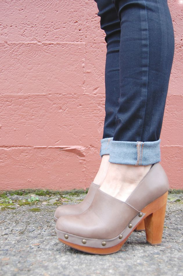 Levi's jeans, Fiel clog pumps, wright for michele